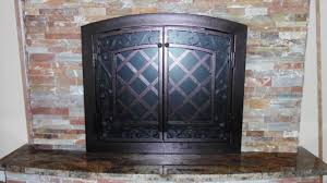 wrought iron fireplace screens artistic iron works lv youtube