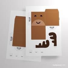 mollymoocrafts free printables reindeer treat box