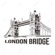 vector tower bridge london illustration royalty free cliparts