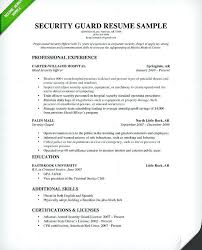 security guard resume ar resume sle security resume sle 2 security guard