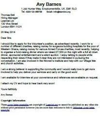 application letter for a voluntary work upon reading the two