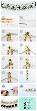 bracelet diy tutorials images Creative chain and rope bracelets diy tutorials alldaychic jpg