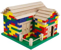 wood lego house baby toys creative building blocks infant toys house large size