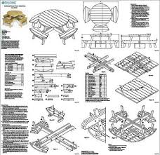 Free Large Octagon Picnic Table Plans by Traditional Round Picnic Table Benches Woodworking Plans Odf04