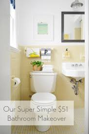 Cheap  Charming Our  Bathroom Makeover Young House Love - Simple bathroom makeover