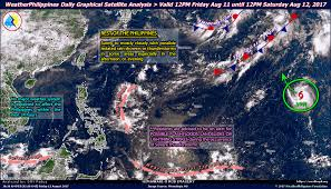 Lightning Strikes Map Weatherphilippines Daily Graphical Satellite Analysis From 12pm