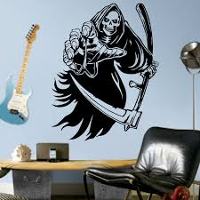 the grim reaper vinyl wall art decal sticker