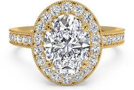 vintage halo engagement rings oval cut vintage halo engagement ring with