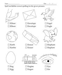 spelling test letter start with e printable coloring worksheet