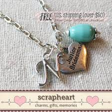 personalized wedding jewelry jr bridesmaid necklace junior bridesmaid gift personalized