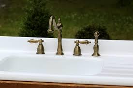 Antique Brass Kitchen Faucet Antique Brass Kitchen Faucet Sprayer Kingston Brass Heritage