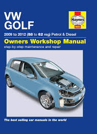 haynes 5633 workshop repair manual guide vw golf petrol diesel 09