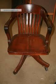 Oak Office Chair Design Ideas Vintage Antique Oak Desk Chair Lawyer Office Sheybogan Crocker Co