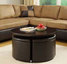 White Leather Storage Ottoman Living Room Table With Storage Stools Leather Coffee Ottoman
