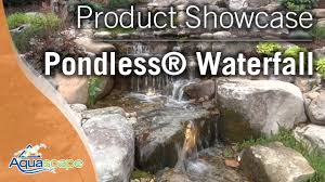 Aquascape Pondless Waterfall Kit Pondless Waterfall Product Showcase Youtube