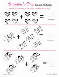 count u0026 color valentine u0027s day addition worksheet education com