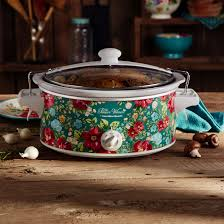 pioneer woman 6 quart portable slow cooker vintage floral model