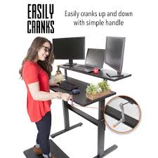 Stand Up Sit Down Desks by Crank Sit Stand Desks Stand Steady