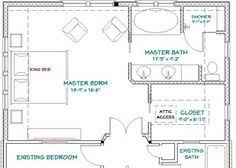 Bathroom Floor Plan by Master Bedroom Addition Plan Vaulted Ceiling Over Bedroom And