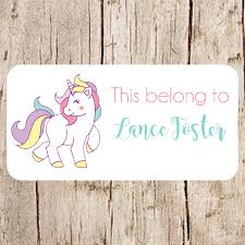 unicorn stickers school name labels labels for schoolschool zoom
