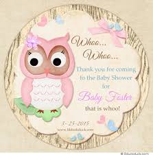 owl themed baby shower decorations wood owl baby shower sticker decorate favors girly