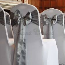 silver chair covers venues covered chair covers and sashes products