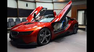 Bmw I8 Custom - custom lava red bmw i8 car youtube