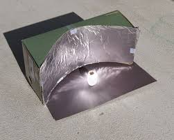 almost unschoolers parabolic solar shoebox cooker math you can see