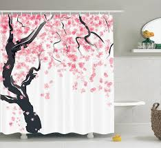 Beautiful Shower Curtains by Pretty Cherry Blossom Shower Curtain