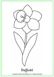 daffodil colouring page a simple colouring page for spring or