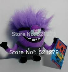 7 inch despicable me 2 minions purple evil plush doll toy new