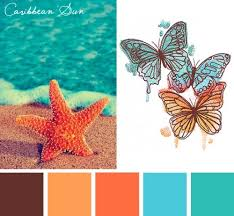 try this caribbean sun color scheme out on your embroidery designs
