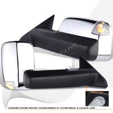 towing mirrors for dodge ram 3500 dodge ram 3500 2010 2012 towing mirrors chrome power heated memory