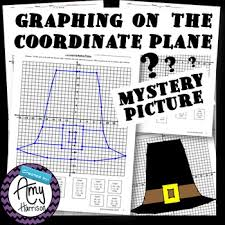 thanksgiving pilgrim hat coordinate plane mystery picture two