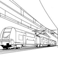 train on electric cable coloring page color luna