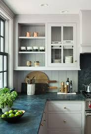 granite countertop white cabinets yellow walls backsplash for