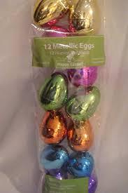 metallic easter eggs metallic easter eggs plastic shiny easter eggs set of