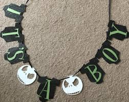 nightmare before christmas baby shower decorations sally banner etsy