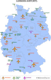 map of germany showing rivers airports in germany are some of the busiest in the international