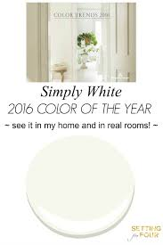 color of the year 2016 simply white setting for four