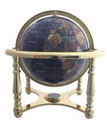 gemstone world globe ebay