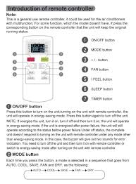 carrier split room air conditioner remote control manual air