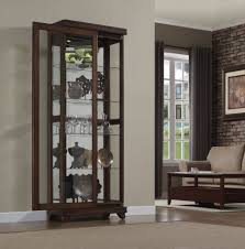 Kitchen Cabinet Frames Incredible Rectangle Shape Brown Kitchen Console Curio Cabinet