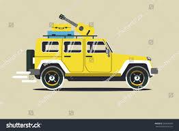 vector modern retro yellow jeep background stock vector 540036934