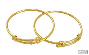 simple gold bracelet price images 22k gold baby kada simple design ajba54175 22k gold jpg