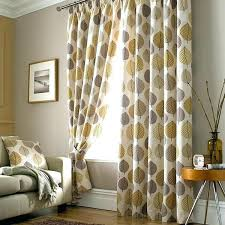 Yellow Patterned Curtains Patterned Curtains Delicate And Modern Bedroom Brown Patterned