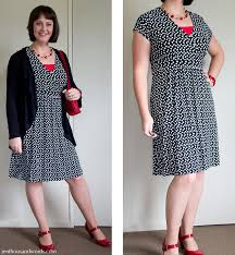 black and white polka dot dress red shoes red accessories