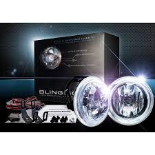 3 inch fog light kit blinglights bl5000k 3 inch round white halo angel eye fog driving