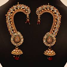 ear cuffs india gorgeous ear cuffs studded with stones rubies emeralds