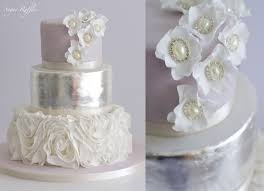 silver wedding cakes grey silver wedding cakes